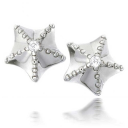 Bling Jewelry CZ Meer Seestern Ohrstecker aus 925er Sterling-Silber