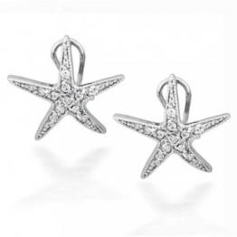 Bling Jewelry CZ Pavé Seestern Omega Zurück aus 925er Sterling-Silber