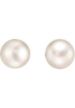 CHRIST Pearls Damen-Ohrstecker 925er Silber 2 Süßwasser-Zuchtperle One Size, weiß