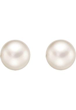 CHRIST Pearls Damen-Ohrstecker 925er Silber 2 Süßwasserzuchtperle One Size, weiß