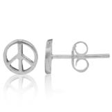 Chic-Net Silberohrstecker Ohrstecker 925er Sterling Silber Unisex Schmuck Ohrringe Peace Symbol