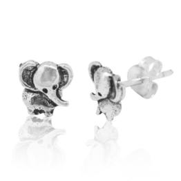 Chic-Net Silberohrstecker Ohrstecker Ohrringe Unisex 925er Sterling Silber Schmuck Elefant