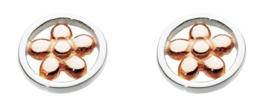 Dew Ohrringe Sterling-Silber 925, offen, rund, Blume
