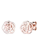 Elli Damen-Ohrstecker Rose Blume rosévergoldet 925 Silber – 0309282914