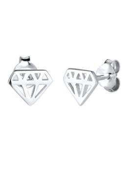Elli Damen-Ohrstecker Trendsymbol Diamantform 925 Silber – 0305420815