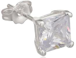 Herren-Ohrring Sterling-Silber 925 Zirkonia TMS/6 – Einzelnen Ohrring