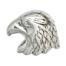 Herrenschmuck – Herren Einzel – Silber Ohrstecker / Ohrringe Adler aus 925 Sterling Silber rhodiniert