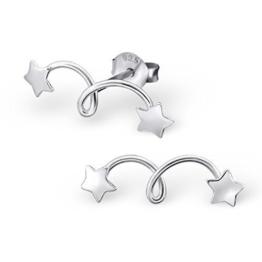Laimons Damen-Ohrstecker Stern-schnuppe glanz Sterling Silber 925