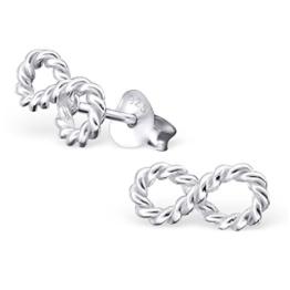 Laimons Damen-Ohrstecker Unendlichkeit Symbol gedreht glanz Sterling Silber 925