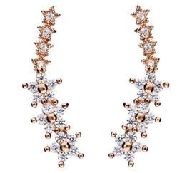 MYA art Ohstecker Ear Cuff Pins 925 Sterling Silber Rosegold Vergoldet Blumen Sterne mit Zirkonia MYASIOHR-28