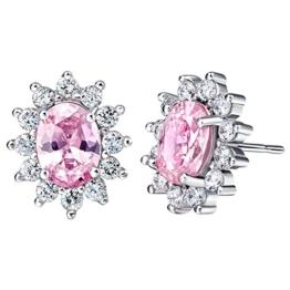 NYKKOLA Fashion Jewelry Ohrstecker 925 Sterling Silber Kristall Blume Vintage Ohrrings Geschenk