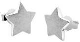 Nenalina Silber Damen-Ohrringe Ohrstecker Stern Motiv mit gebürsteten Oberflächen, 324407-390