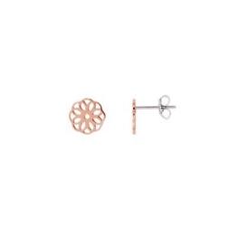 Ohrringe – Blüte/Blume – roségoldfarben