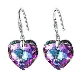 Ohrringe von GoSparkling – Herz-Ohrringe im funkelnden Kristall-Design – 100% aus Österreichischen Kristall und Sterlingsilber – Hochqualitative Modeschmuck Ohrringe für Mädchen und Frauen