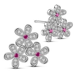 Sweetiee 3 Blumen Blueten Sterling Silber Ohrstecker Ohrringe Fashion Elegant Modern Schmuck
