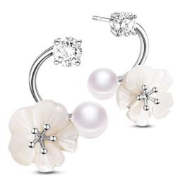 Sweetiee Perlen Blumen Perlen Ohrstecker Ohrringe Modern Fashion Bud Elegant Mit Geschenkbox Schoen Schmuck