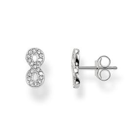Thomas Sabo Sterling Silver Damen-Ohrringe Silber Weiß H1877-051-14