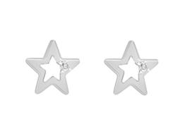 Tuscany Silver Damen-Ohrstecker Kristall schleifen 925 Sterling Silber 8.58.7139