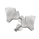 Vinani Damen-Ohrstecker Ginkgo Blatt mattiert Sterling Silber 925 Ohrringe OGK