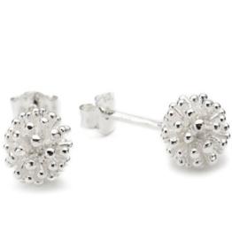 Vinani Damen-Ohrstecker Igelblume groß glänzend Sterling Silber 925 Ohrringe OIK