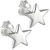 Vinani Damen-Ohrstecker Stern matt Sterling Silber 925 Ohrringe OSKG