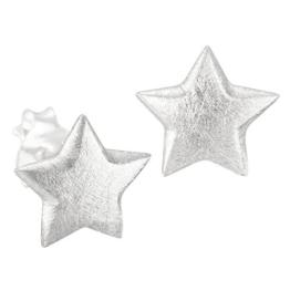 Sr-40 15 x 15  mm Rhyolith Silber Ohrringe,Silber,Stern