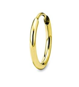 amor Damen-Creole Einzelohrschmuck 10 mm 333 Gelbgold glänzend - 157933 -