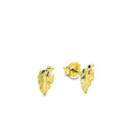 amor Damen-Ohrstecker Blatt Blätter 333 Gelbgold glänzend - 345118 -