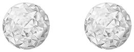 Carissima Gold Damen-Ohrstecker 9ct weiß Diamond Cut 3mm Ball Stud 375 Weißgold-5.55.7999 -