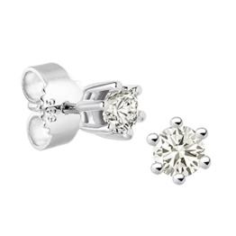 Diamond Line Damen-Ohrstecker Lupenrein 585 Weißgold Diamant 0.30 ct weiß Brillantschliff 119249 -