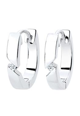 Diamore Damen-Creolen 925 Sterling Silber Diamant weiß -