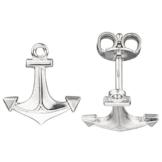 maritime Ohrstecker Anker Sterling Silber rhodiniert Ohrringe Silberohrstecker