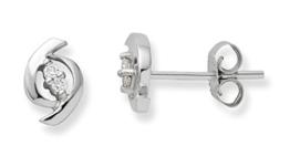 Miore Damen-Ohrring 9 Karat (375) Weißgold -