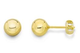 Miore Damen-Ohrstecker Kugel 375 Gelbgold 5 mm -