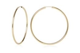 MyGold Damen-Creolen Ohrringe Gelbgold 585 Gold Durchmesser 50mm groß dünn Hochglanz ohne Stein Viva Romana V0004855 -
