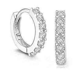 Numeis Damen Retro Diamant 925 Sterling Silber Ohrringe Ohrstecker -