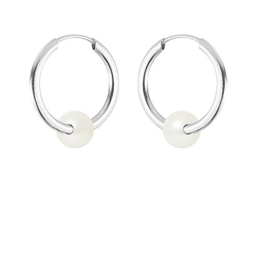 Pearls & Colors-Creolen-Weißgold 9kt-Süßwasserperle-am-9boc 134r4b-wh -