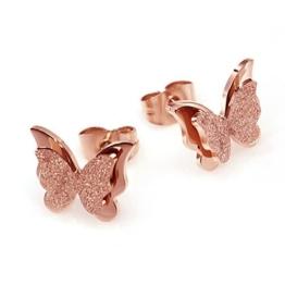 Schmetterling Ohrringe, Edelstahl Ohrstecker für Damen Valentinstag Geschenk, Modeschmuck -