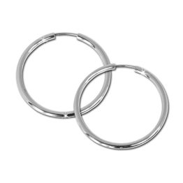 SilberDream Creole Simply 925 Sterling Silber 40mm Creolen Ohrringe SDO070 -
