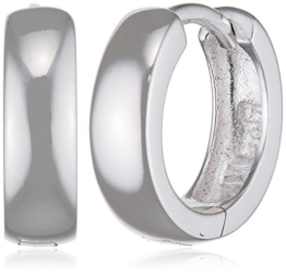 SilberDream Ohrringe Creole Glanz klein 12mm 925 Sterling Silber Ohrring SDO333S2 -