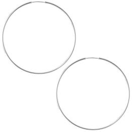 So Chic Schmuck - Damen-Ohrringe Creolen Flexibel Durchmesser 60 mm Creolendraht 1,5 mm - Weißgold 375/000 (9 Karat) -