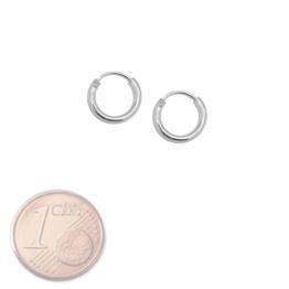 SoulCats® Creolen Creole 925 echt sterling Silber Ohrringe silbern 8 12 16 20 25 mm, Größe:8 mm -