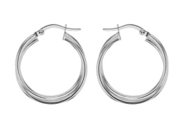 Tuscany Silver Damen-Creolen Modeschmuck Ohrringe Sterling-Silber 925 8.53.4359 -