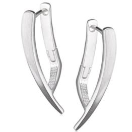 Vinani Damen-Klapp-Creolen Cubique Sterling Silber 925 Ohrringe CQU -