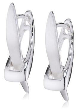 Vinani Damen-Klapp-Creolen X-Form Sterling Silber 925 Ohrringe CXV -
