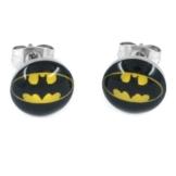 Batman Design Fledermaus Ohrstecker Ohrringe Edelstahl poliert 10mm (2 Stück) für Damen und Herren -