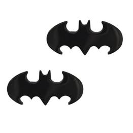Batman Design Fledermaus Ohrstecker Ohrringe Edelstahl Schwarz für Damen und Herren (2 Stück / 1 Paar) -