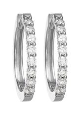 CHRIST Diamonds Damen-Creole 585er Gelbgold 16 Brillanten ca. 0,35 ct. One Size, weißgold -