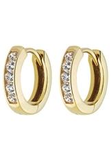 CHRIST Gold Damen-Creole 333er Gelbgold 10 Zirkonia One Size, gold -