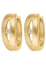 CHRIST Gold Damen-Creole 333er Gelbgold Zirkonia One Size, gold -